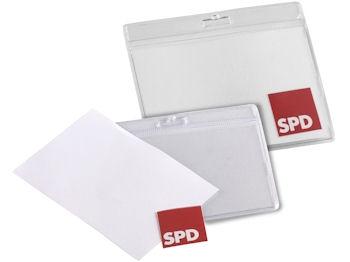 SPD Ausweishülle, 1 Stück = 1 VPE (Staffelpreise beachten) (Art.-Nr. 1010)