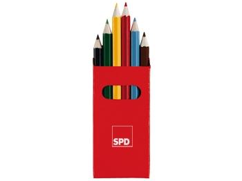 SPD Buntstifte, rot, 10 Päckchen = 1 VPE (Staffelpreise beachten) (Art.-Nr. 1016r)