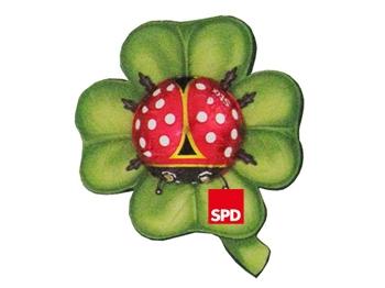 SPD Glückskäfer auf Kleeblatt, 100 Stück (Art.-Nr. 1022)