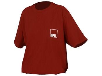 SPD T-Shirt rot, Gr. XL, 1 Stück (Art.-Nr. 1075-XL)