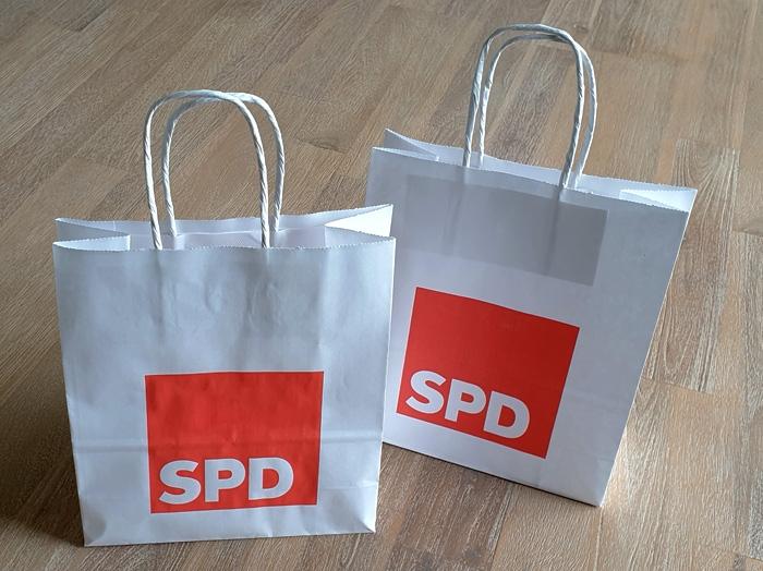 SPD Papiertragetasche, 100 Stück = 1 VPE (Staffelpreise beachten) (Art.-Nr. 1085E)