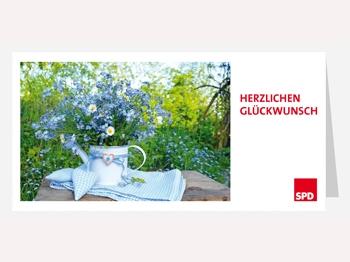 SPD Glückwunschkarten mit Umschlag, 65 Stück RESTMENGE (Art.-Nr. 1110)