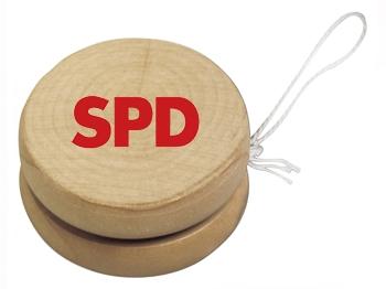 SPD Holz-Jojo, 10 Stück = 1 VPE (Staffelpreise beachten) (Art.-Nr. 1120)