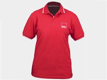 SPD Polohemd, rot, Gr. M, 1 Stück (Art.-Nr. 1232-M)