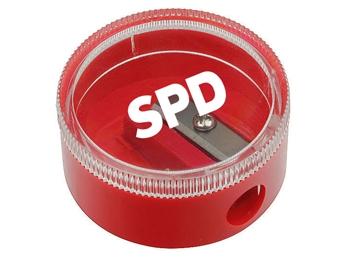 SPD Bleistiftspitzerdose, 4 cm Ø, 24 Stück (Art.-Nr. 1246)