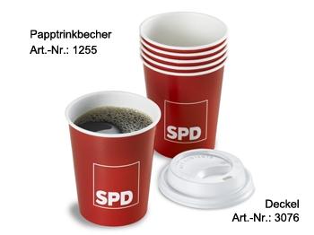 SPD Papptrinkbecher, 100 Stück (Art.-Nr. 1255)