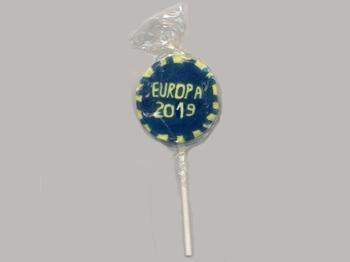 EUROPA 2019 Lollies, 50 Stück = 1 VPE (Staffelpreise beachten) (Art.-Nr. 1279)