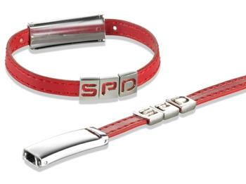 SPD Design-Armband, rot, 1 Stück (Art.-Nr. 1302)