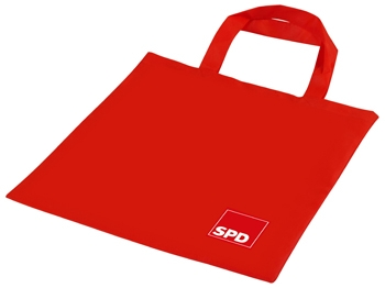 SPD Baumwolltasche, 38 x 42 cm, 10 Stück (Art.-Nr. 1369)