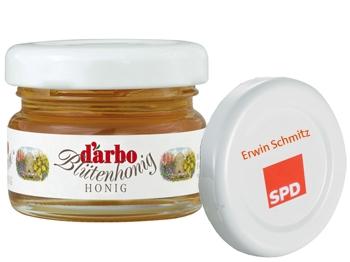 SPD Mini-Honig-Gläschen inkl. Sonderdruck 240 Stück = 1 VPE (Staffelpreise beachten) (Art.-Nr. 1320SD)