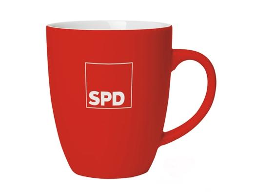 SPD Kaffeebecher Softtouch, 1 Stück = 1 VPE (Art.-Nr. 1335)