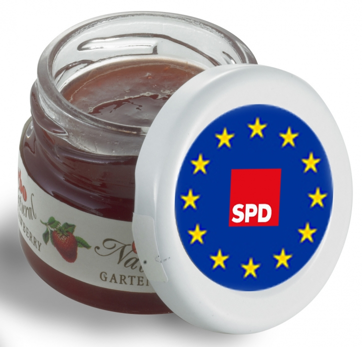 EUROPA SPD Mini-Marmeladen-Gläschen, 60 Stück (Art.-Nr. 1340)