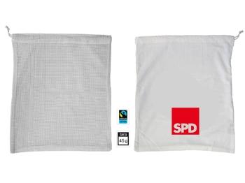 SPD FAIRTRADE-Baumwollbeutel für Obst und Gemüse, 10 Stück (Art.-Nr. 1348)