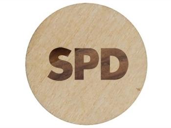 SPD Einkaufswagenchips aus HOLZ, 100 Stück = 1 VPE (Staffelpreise beachten) (Art.-Nr. 1355)