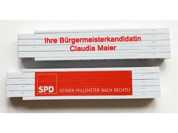 SPD Meterstab 1m, KEINEN MILLIMETER NACH RECHTS! mit Sonderdruck, 400 Stück = 1 VPE (Art.-Nr. 1359SD)