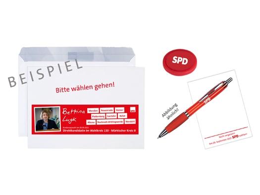 SPD C5-Briefumschlag bedruckt & konfektioniert, 1.000 Stück = 1 VPE (Staffelpreise beachten) (Art.-Nr. 1399)