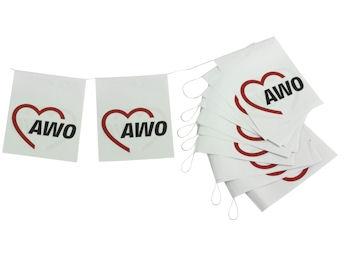 AWO Fahnenkette, 1 Stück = 1 VPE (Staffelpreise beachten) (Art.-Nr. 2017)