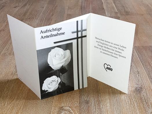 AWO Trauerkarten, 25 Stück = 1 VPE (Staffelpreise beachten) (Art.-Nr. 2021)