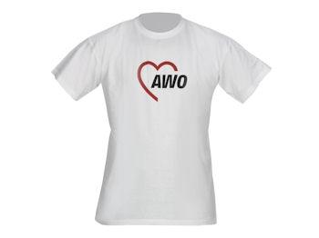 AWO T-Shirt 140 g-Qualität, weiß, 1 Stück (verschiedene Größen lieferbar) (Art.-Nr. 2034)