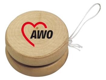 AWO Holz-Jojo, 10 Stück = 1 VPE (Staffelpreise beachten) (Art.-Nr. 2040)