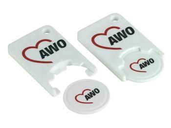 AWO Einkaufswagenchip Kunststoff, 10 Stück = 1 VPE (Staffelpreise beachten) (Art.-Nr. 2075)