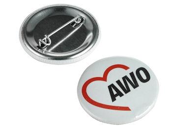 AWO Button, 10 Stück = 1 VPE (Staffelpreise beachten) (Art.-Nr. 2096)