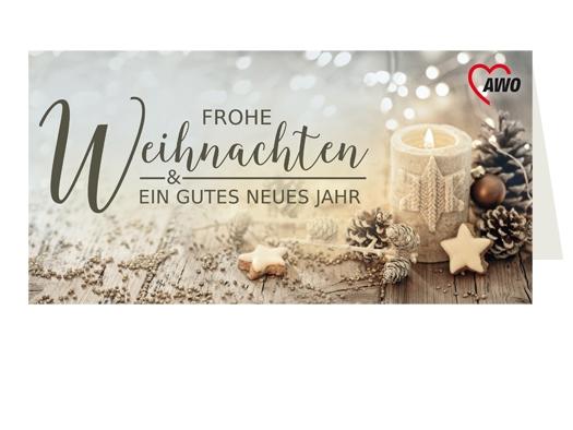 """AWO Weihnachtskarten """"Kerze"""", 100 Stück (Art.-Nr. 2107)"""