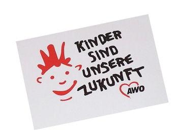 "AWO Aufkleber ""Kinder sind..."", 100 Stück (Art.-Nr. 2112)"