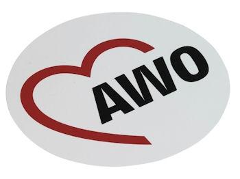 AWO Aufkleber, 30 cm Ø, 1 Stück (Art.-Nr. 2117)
