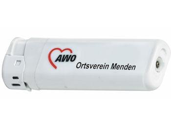 AWO Elektronikfeuerzeuge mit Sonderdruck, 500 Stück = 1 VPE (Staffelpreise beachten) (Art.-Nr. 2134SD)