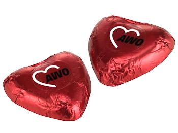 AWO Schokoladenherz, 100 Stück (Art.-Nr. 2148)