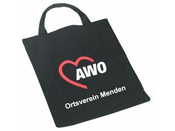 AWO Vliestasche schwarz Sonderdruck, 250 Stück = 1 VPE (Staffelpreise beachten) (Art.-Nr. 2154SD)