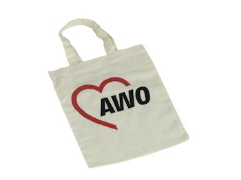AWO Baumwolltasche (klein), 22 x 26 cm, 10 Stück = 1 VPE (Staffelpreise beachten) (Art.-Nr. 2167)