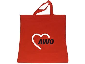 AWO Baumwolltasche rot, 38 x 42 cm, 10 Stück = 1 VPE (Staffelpreise beachten) (Art.-Nr. 2206)
