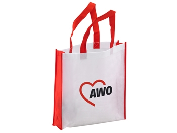 AWO Shopper-/Vliestasche mit Bodenfalte, 10 Stück (Art.-Nr. 2260)