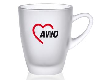 AWO Glasbecher / Teeglas, gefrostet, 6 Stück = 1 VPE (Staffelpreise beachten) (Art.-Nr. 2341)
