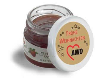 """AWO Mini-Marmeladen-Gläschen """"Frohe Weihnachten"""", 60 Stück (Art.-Nr. 2342)"""