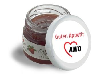 """AWO Mini-Marmeladen-Gläschen """"Guten Appetit"""", 60 Stück (Art.-Nr. 2344)"""