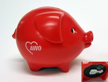 AWO Sparschwein mit Schlüssel (Art.-Nr. 2348)