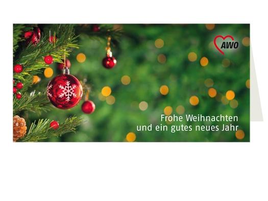 """AWO Weihnachtskarten """"Kugel"""", 100 Stück (Art.-Nr. 2366)"""