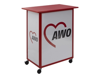 AWO Promotion-Tisch/Theke, rot, 1 Stück (Art.-Nr. 2380)