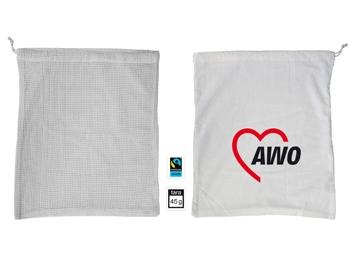 AWO FAIRTRADE-Baumwollbeutel für Obst und Gemüse, 10 Stück (Art.-Nr. 2412)