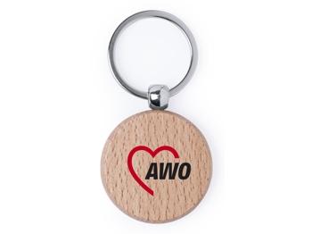 AWO Schlüsselanhänger aus Buchenholz, 10 Stück (Art.-Nr. 2414)