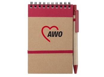 AWO Ring-Notizbuch aus Recyclingkarton, 10 Stück (Art.-Nr. 2415)