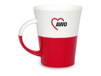 AWO Kaffeebecher, rot/weiß, 6 Stück = 1 VPE (Staffelpreise beachten) (Art.-Nr. 2425)