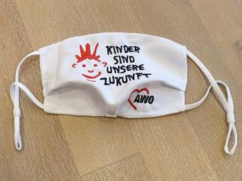AWO KINDER-Mund-Nasen-Maske, weiß, 1 Stück = 1 VPE (Art.-Nr. 2435)