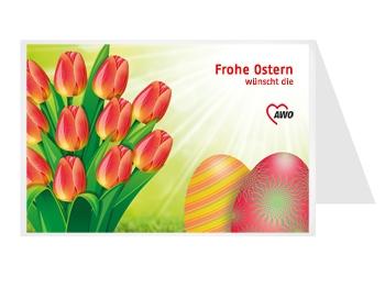 AWO OSTER-Grußkarten, 50 Stück = 1 VPE (Staffelpreise beachten) (Art.-Nr. 2437)