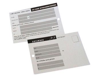 Postkarten, 100 Stück = 1 VPE (Staffelpreise beachten) (Art.-Nr. 3008)