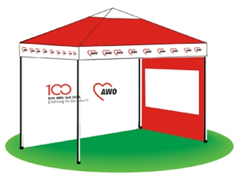 AWO 100-Jahre-Rückwand für Pavillon, 1 Stück (Art.-Nr. 62003)