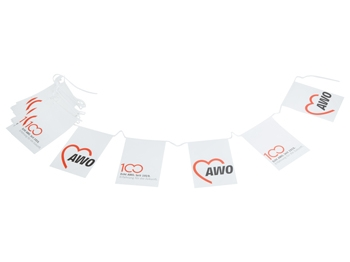 AWO 100-Jahre-Fahnenkette, 1 Stück (Art.-Nr. 62017)